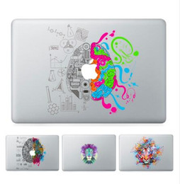 Wholesale Vinyl Sticker Macbook - free shipping Laptop Vinyl Partial Decal DIY Personality Sticker Left&Right Brain Print Skin For Macbook Air Pro Retina Touch Bar