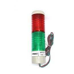 Señal de advertencia de la columna de luz de señal industrial Indicador de luz de la torre redonda Luz de advertencia Rojo Verde Amarillo DC 12V Continuo desde fabricantes