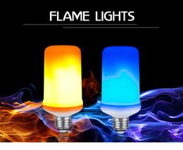 Lámpara de maíz led azul online-Bombilla de efecto de llama LED E27 Lámparas de efecto de llama dinámica Bombilla de maíz Emulación de diodo de 9 W Luces de fuego creativo Lampada Azul / Amarillo Luz de fuego