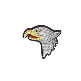 Wholesale Eagle Embroidered Patches - Diy Eagle Head Patches Stripe Sewing Embroidered Clothing Patch Ironing on Jacket Transfer Applique Patches for Fabrics Badges Accessories