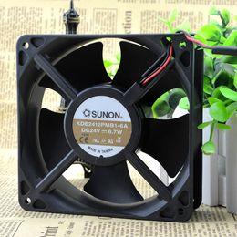 1PC SUNON KDE2412PMB1-6A 12038 24V 10.3W 12CM inverter cooling fan