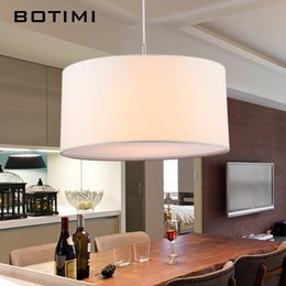 Wholesale Nordic Fabric - BOTIMI Simple Modern Round Fabric Pendant Lights For Dining Room Lamparas Colgantes Nordic Bedroom Black White Hanging Light