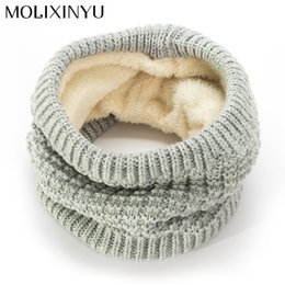 Wholesale Wool Scarves For Girls - MOLIXINYU 2017 Fashion Girls Winter Scarf For Boys Children Baby Scarf Thickened Wool Collar Scarves Children Baby Neck
