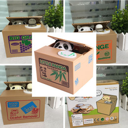 panda box piggy bank Coupons - Automatic Stole Coin Piggy Bank Panda Bamboo Money Saving Box Automatic Stealing Coin Piggy Bank for Kids Money Saver Toy Gifts withPackage