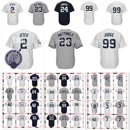 2019 camisola de basebol de flanela Camisa muito popular dos homens 99 Aaron Juiz 42 Mariano Rivera 2 # 3 Babe Ruth 7 Mickey Mantle 23 camisas de Don Mattingly