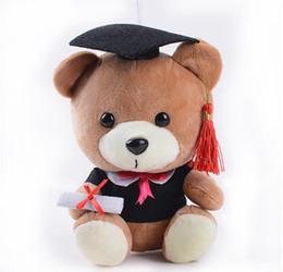 oso de graduación de juguete Rebajas Lindo Suave Año Superior Osos de Peluche Animales de Peluche Decoración de la Habitación de Graduación Presente Baby Doll Toy