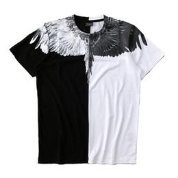 Camicia ala marcelo burlon online-T-shirt Marcelo Burlon Summer Fashion Streetwear Feather Marcelo Burlon Top Tee 18SS Italia Milan Wings T-Shirt