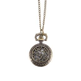 coolste taschenuhren Rabatt Vintage Pocket Watch Bronze Farbe Quarzuhr Cool Kette hohlen Sternen Uhren LL @ 17