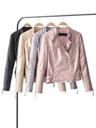 2019 chaquetas de buceo Mujeres Nightcrawler Dive cuero chaqueta de la motocicleta con cremallera asimétrica moda mujer abrigo delgado chaquetas de cuero envío gratis chaquetas de buceo baratos