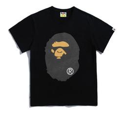 Wholesale t shirt glasses - 2018 Newest Classic fear of god Glass bead rainbow ape face T - shirt hip-hop skateboard T SHIRT YEEZUS Glass bead flashing printing