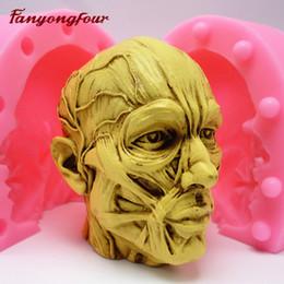 Torta del cranio online-La muffa della torta del silicone della muffa del silicone della muffa del silicone della muffa del silicone della muffa del silicone dell'anatomia 3D cuoce liberamente il trasporto