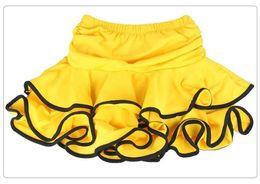 Wholesale dancewear latin dress - Wholesale-Children Girl Latin Dance Skirt Practicing Latin Dress Leopard Tutu Ballroom And Ballet Skirt Dancewear Vestidos De Baile Latino