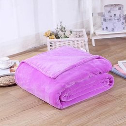 Wholesale Coral Heating - Home Textile Pink Sofa Bedding Coral Fleece Blanket Throw Winter Soft Warm Bedsheet 100*140cm 150 180*200cm 200*230cm 13Colors