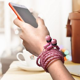 2018 стильный наушник для наушников Проводной наушник Браслет с микрофоном 3,5 мм Стильный тканый плетеный наушник для iPhone Android в наушниках для наушников дешево стильный наушник для наушников