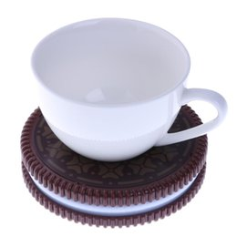 Wholesale usb warming pad - Portable Cookie Shape Cup Mat USB Power Supply Cable Heater Mat Drinks Warmer Tiny Mug Drink Coaster Vacuum Cup Pad 2017 New