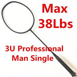 dde6b1a7c Raquete preta rígida Max 38Lbs feito de H.M Grafite homens única raquete de  badminton raquete de badminton 3U raqueta padel raquete à venda raquete de  ...