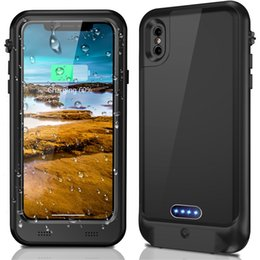 Caja de batería a prueba de agua IP68 para iPhone X Banco de energía Caja de carga de batería protectora recargable para iPhone X 3400mah desde fabricantes