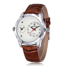 Japão vestido preto on-line-2018 luxo moda homem relógios de couro vestido relógio clássico relógio de quartzo cor preta esporte relógios de pulso movimento japão transporte da gota