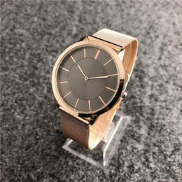 Тонкий черный пояс онлайн-relogio masculino 40 мм розовое золото часы мужчины люксовый бренд повседневная мужская дизайнер простой черный циферблат ультра тонкий уникальный ткань сетки пояса часы