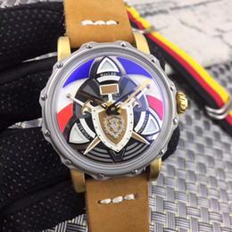 2019 montres couleur cool MaxLAB Navigator Automatique Marron mécanique Montres Cool Men montre Drapeau Couleur Montre-bracelet Mode cadeau résistant à l'eau veau promotion montres couleur cool