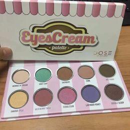 Wholesale Matt Shadows - NEW Burst dos 10 color ice cream eye shadow pearlescent Matt Soc Makeup Tray Beauty make-up series