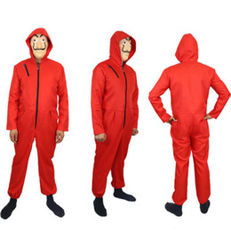Wholesale paper tv - Salvador Dali Movie Costume Money Heist The House of Paper La Casa De Papel Cosplay Halloween Party Costumes with Face Mask