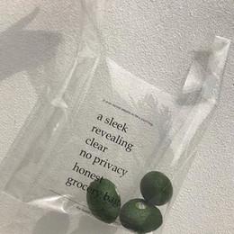 übergroße totes Rabatt Mode Sommermode Übergroße transparente Tasche Briefdruck Strandtasche mit großer Kapazität Jelly Shopping Bucket Tote