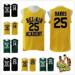Argentina CALIENTE The Fresh Prince of Bel-Air cosido 14 Will Smith Jersey Bel-Air Academy Baloncesto Jersey 25 Carlton Banks Jerseys camisas vintage mejor supplier banks shirts Suministro