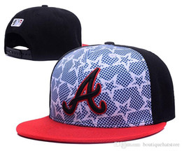 Wholesale Braves Snapback - 2018 Fashion Hip Hop Braves Snapback Cap with White Red Stars & Stripes Print Embroidered A Logo Sports Team Baseball Adjustable Hat
