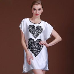 Hot Sale Nightgowns   Sleepshirts Chemise Women Night Dress Sleepwear Sleep  Shirt Imitation Silk Satin Nightie Bathrobe SY028 39 c58dc0b1d840