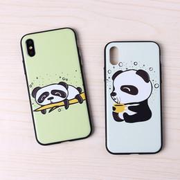 2019 чехлы для телефона panda 3D габаритный рельеф телефон случаях Pet Panda покрытие кнопки для Iphone Xs Max сотовый телефон чехол для Iphone 6 7 8 X Plus дешево чехлы для телефона panda