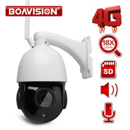 Wholesale ip zoom - 1080P WIFI Speed Dome PTZ IP Camera Wi-Fi Outdoor 3G 4G SIM Card Cam Two Way Audio Speaker 18X Optical Zoom CCTV Camera SD Card