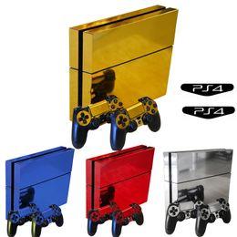 Playstation controller deckt online-OCDAY Vinyl Protector Cover Skin Aufkleber Aufkleber für Sony Playstation Play Station 4 PS4 Konsolen und zwei Controller Skins