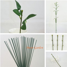 Wholesale white black bouquet - plastic stem flower arrangement flower head accessory containing wire simulation for DIY artificial flower bouquet wedding decor