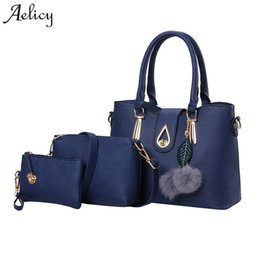 5c8bc0accaa6 Chinese Aelicy Luxury 3 pcs leather traveling bag female fake designer  handbags Europe and the United