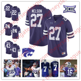 Wholesale Gronkowski Jersey White - Kansas State Wildcats #27 Jordy Nelson 43 Darren Sproles 16 Tyler Lockett 48 Glenn Gronkowski Purple White NCAA College Jerseys S-3XL