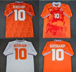 Jersey corto de holanda online-94 96 Camiseta de fútbol retro Países Bajos Bergkamp 88 van Basten 1988 1994 1996 Pantalones cortos Camisetas de fútbol Voetbal Holland Seedorf Orange Uniforms