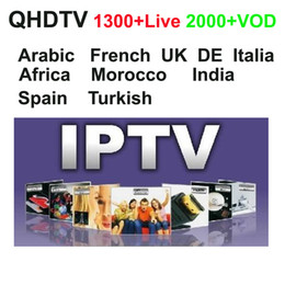 Wholesale Usb Tv Android - 1300+ Full European Arabic French IPTV Account subscription 1 Year Spain Lebanon UK support mag250 m3u Android APK QHDTV VOD films,USB wifi