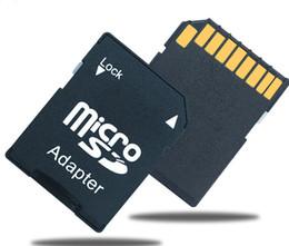 Wholesale Camera Sdhc Card - Micro SD Micro SDHC TF Memory Card to SD Card Adapter Converter for camera Canon Nikon Sony