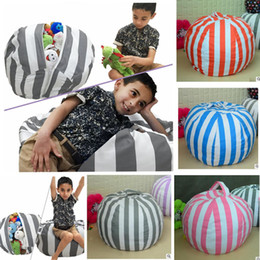 Wholesale Kids Soft Play Mats - Storage Bean Bags Kids Bedroom Beanbag Chair Plush Toys Stuffed Animal Play Mats Stripe Animal Toy Soft Bean Bag toy Organizer 80cm KKA3870