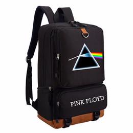 Wholesale Side Bags Men - WISHOT Pink floyd Dark side of the moon backpack Men women's girl School Bags travel Shoulder Bag Laptop Bags bookbag