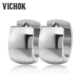 Wholesale Earings Designs - Small Earrings for Women Stainless Steel Metal Earings Rock Punk Trendy Design Brincos Steel Gold Rose Gold Colors Top Quality VICHOK