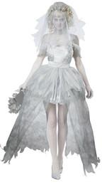 costumes sombres pour halloween Promotion Femmes Vampire Zombie Dress Decadent Dark Ghost Bride Styling Sexy Costumes Halloween Costumes Cosplay Pour Les Femmes Fille