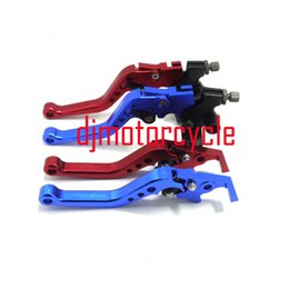 Wholesale Dirt Bike Brake Clutch Lever - Aluminum ASV Red Folding Brake Clutch Levers For pit bike dirt bike Motocross motorcycle Atv