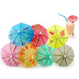 Wholesale umbrella party supplies - 144Pcs Paper Cocktail Parasols Umbrellas drinks picks wedding Event & Party Supplies Holidays