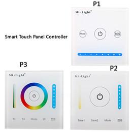 12v levou controlador touch dimmer Desconto AC / DC 12 V-24 V P1 P2 P3 Painel de Controle de Vidro Inteligente Painel de Controle de Escurecimento da Caixa de Controle para CCT / RGB / RGBW / RGB CONDUZIU a luz de Tira