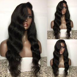 Wholesale thick density lace front wigs - Top Grade Best 150% Density Full density Virgin Malaysian Thick Human Hair Wig Gluess Silk Top Full Lace Wig
