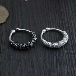 Wholesale Vintage Silver Man Ring - designer jewelry fashion charms 925 sterling silver rings Handmade Woven ring men and women retro Personality vintage wholesale china direct