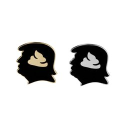 Wholesale men cloth wholesale - Creative Trump Spoof Emoji Hard Enamel Pin Expression Metal Brooches Pins Badge For Backpack Cloth Accessories Jewelry Women Men