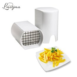 Wholesale potato chips slicer - Lmetjma Stainless Steel French Fry Cutter Kitchen Potato Chip Cutter Slicer Fries French Fry Potato Cutter Kitchen Tools Lk0730c